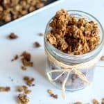 Healthy granola in a jar for a delicious breakfast