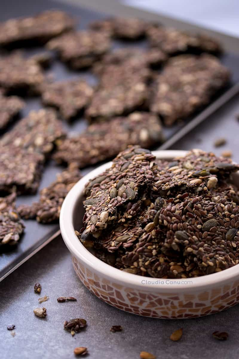 Easy Gluten-Free and Vegan Seed Crackers