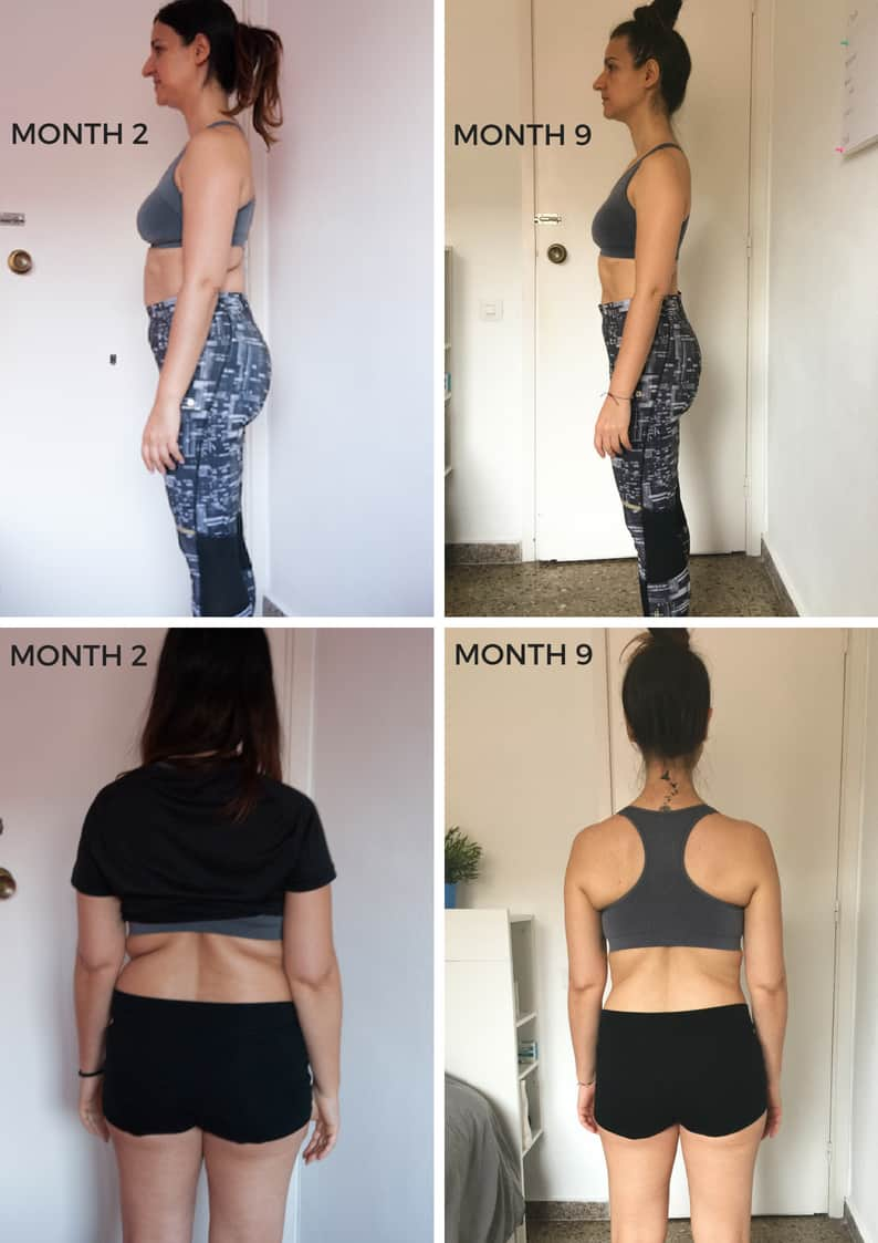 Photos of a before and after losing weight