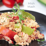 Mish Mash - recipe with eggs, peppers and cheese