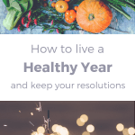 Pin for the post How to Live A Healthy Year By Keeping Your New Year Resolutions