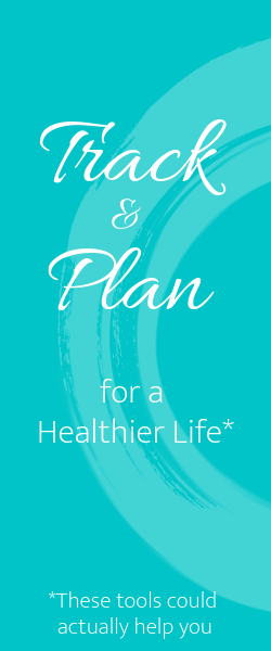 Banner to buy planners and trackers for a healthier life