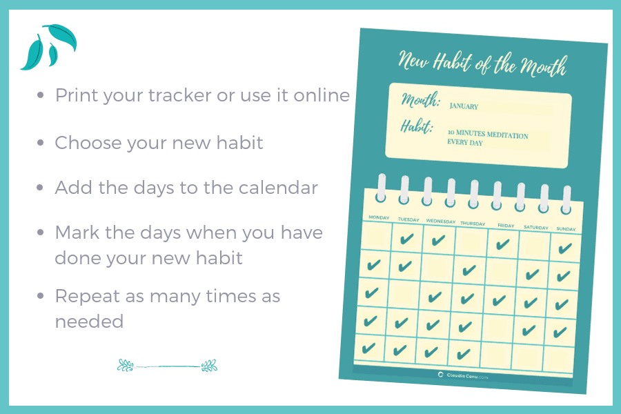 Free printable habit tracker that can be used online