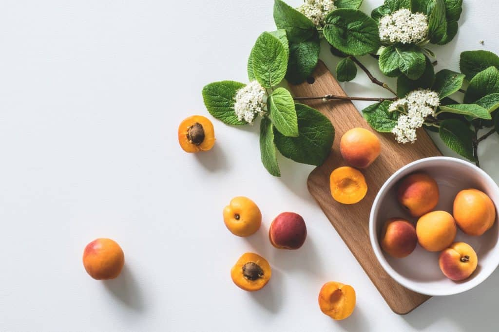 Apricots on a table, sign of a healthy lifestyle