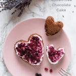 Heart shaped healthy chocolate cakes