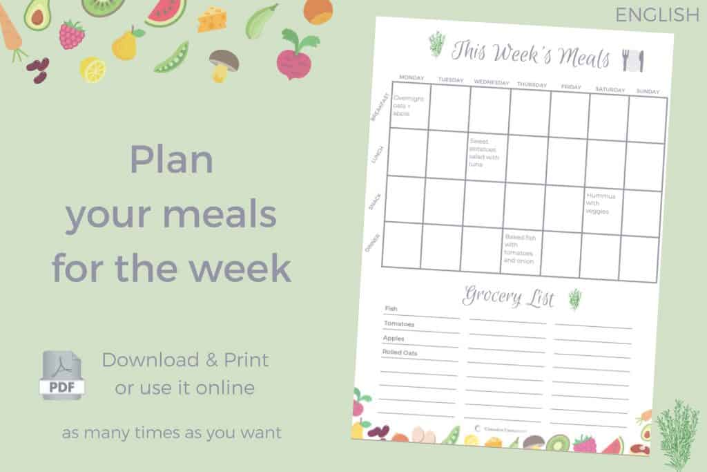 Free Template Meal Plan