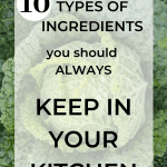 Foto of a cabbage with the message Types Of Ingredients You Should Always Keep In Your Kitchen