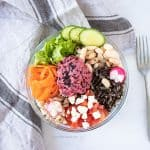 Gluten-free and balanced Buddha bowl