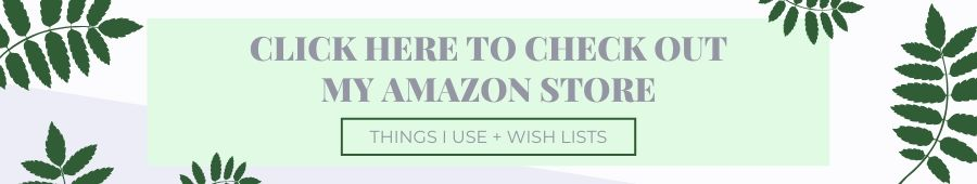 A banner with the invitation to check my amazon influencer store
