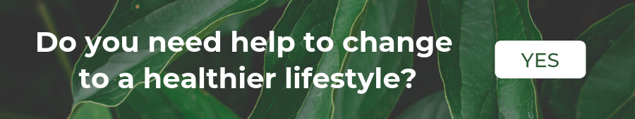 "A banner with the sentence ""Need some help to change to a healthier lifestyle?"" and a button ""Yes"""