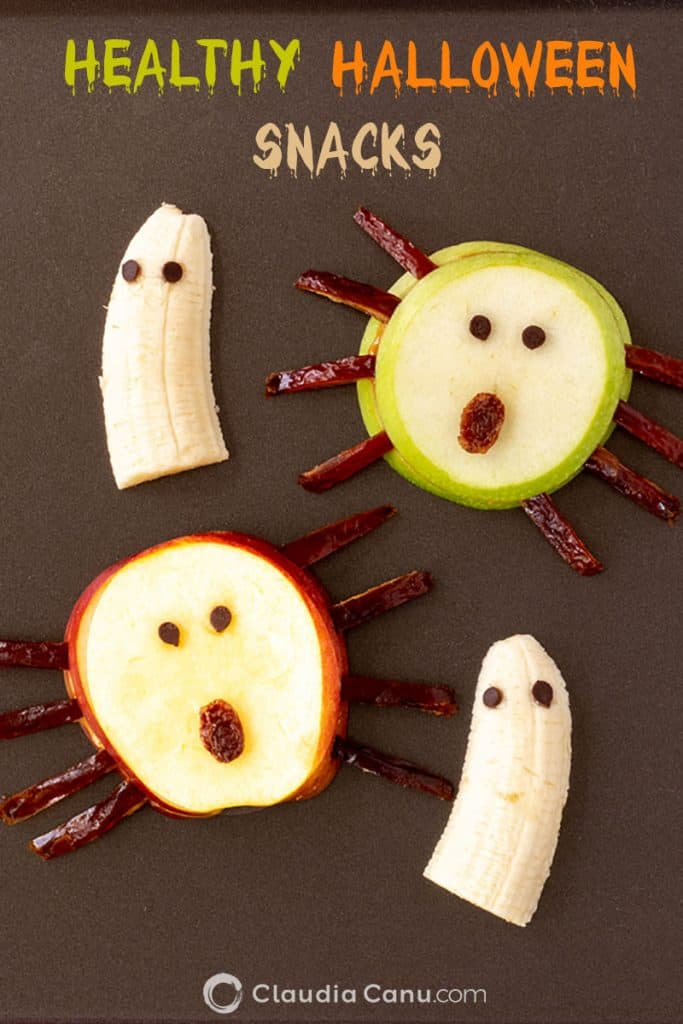 Healthy Halloween Snacks made with fruits