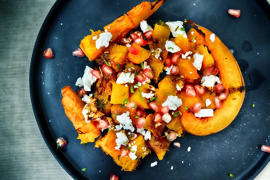 A dish with sweet potatoes and pumpkin for diabetes