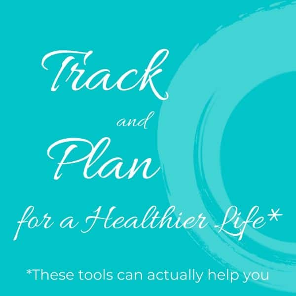 "A banner with the words ""Track and plan for a healthier life"""