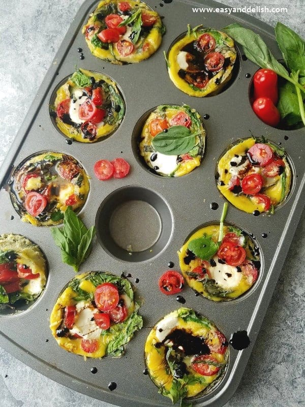 Caprese Breakfast Egg Cups