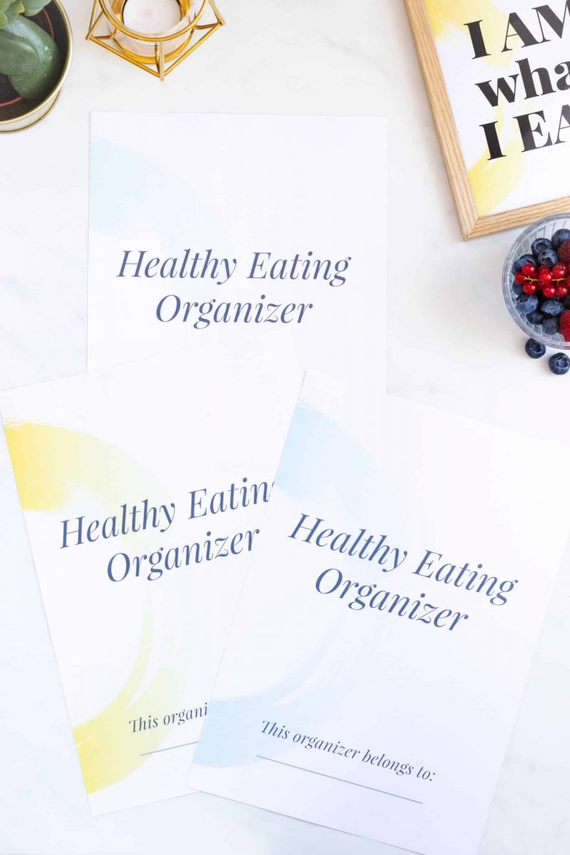 Healthy Eating Organizer Covers