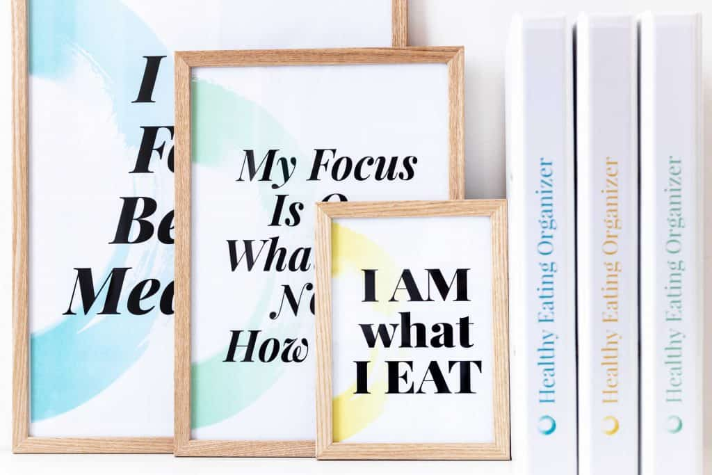 Healthy Eating Organizer Motivational Posters And Binders