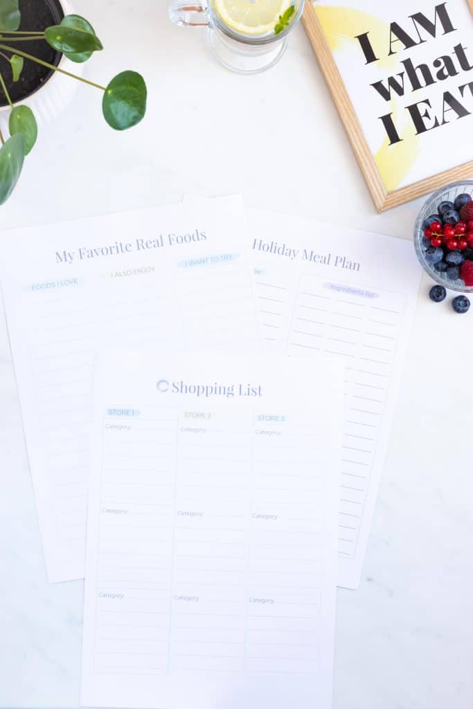 Healthy Eating Organizer Printables