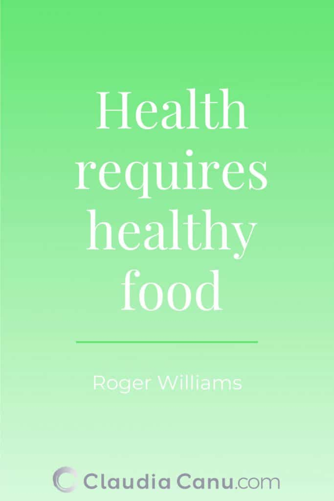 Healthy Eating Quote by Williams